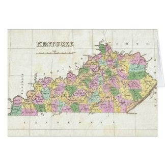 Mapa del vintage de Kentucky (1827) Tarjeta De Felicitación