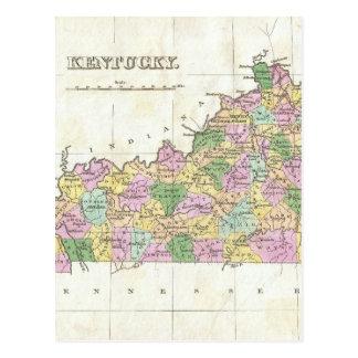 Mapa del vintage de Kentucky (1827) Tarjeta Postal