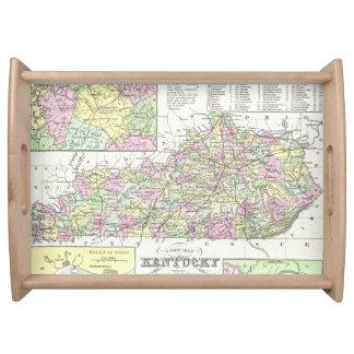 Mapa del vintage de Kentucky (1850) Bandeja