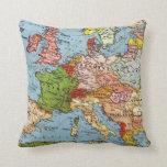 Mapa del vintage de la almohada de Europa