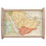 Mapa del vintage de la Arabia Saudita (1780) Bandeja