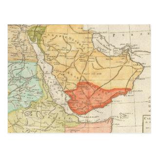 Mapa del vintage de la Arabia Saudita (1780) Tarjeta Postal