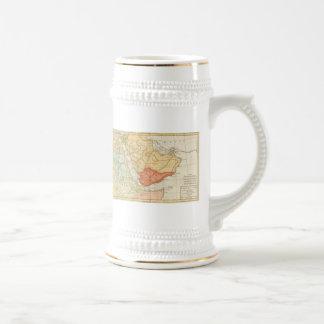 Mapa del vintage de la Arabia Saudita 1780 Tazas De Café