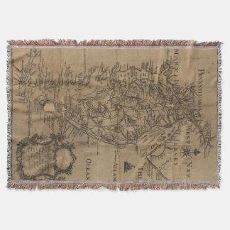 Mapa del vintage de la bahía de Chesapeake (1778) Manta