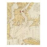 Mapa del vintage de la bahía de Chesapeake (1781) Membrete