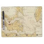 Mapa del vintage de la bahía de Chesapeake (1781) Tablero Blanco