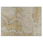 Mapa del vintage de la bahía de Chesapeake (1781) Tabla Para Cortar