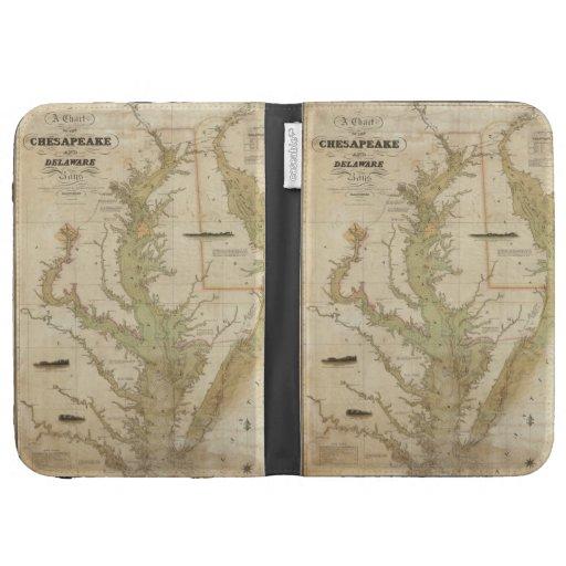 Mapa del vintage de la bahía de Chesapeake (1840)
