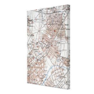 Mapa del vintage de la Berlín Alemania Suburbs (19 Lona Estirada Galerías