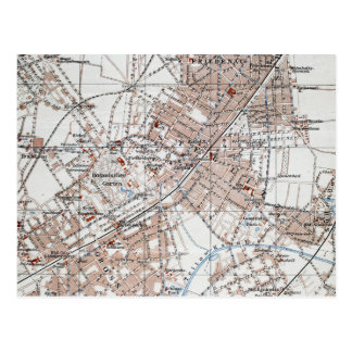 Mapa del vintage de la Berlín Alemania Suburbs Postales
