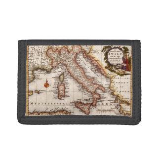 Mapa del vintage de la cartera de Italia