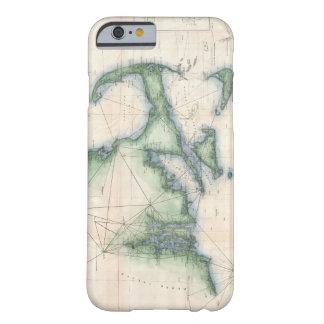 Mapa del vintage de la costa costa de funda barely there iPhone 6