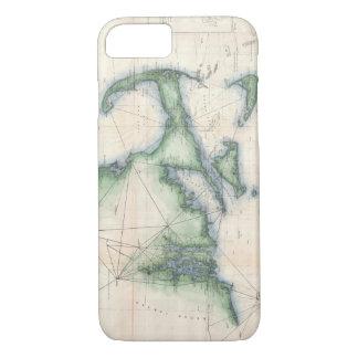 Mapa del vintage de la costa costa de funda iPhone 7
