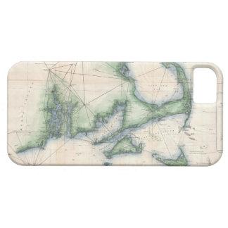 Mapa del vintage de la costa costa de Massachusett iPhone 5 Protectores