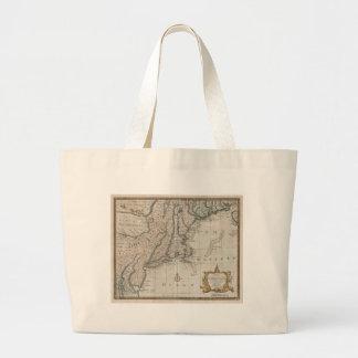 Mapa del vintage de la costa de Nueva Inglaterra ( Bolsas