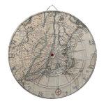 Mapa del vintage de la costa de Nueva Inglaterra ( Tablero Dardos