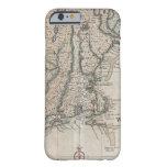 Mapa del vintage de la costa de Nueva Inglaterra Funda De iPhone 6 Barely There