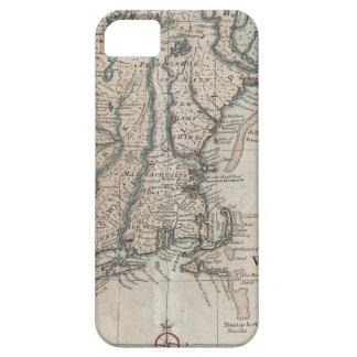 Mapa del vintage de la costa de Nueva Inglaterra iPhone 5 Carcasa