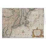 Mapa del vintage de la costa de Nueva Inglaterra ( Tarjetón