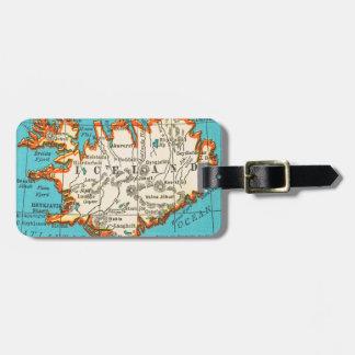 Mapa del vintage de la etiqueta del equipaje de IS Etiquetas Bolsas