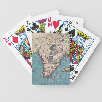 Mapa del vintage de la Florida (1591) Baraja Cartas De Poker