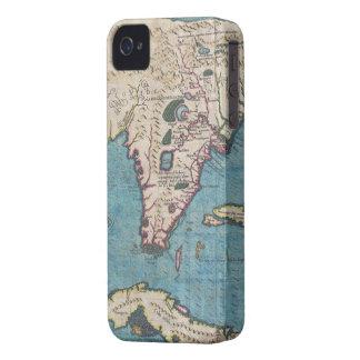 Mapa del vintage de la Florida (1591) iPhone 4 Case-Mate Coberturas