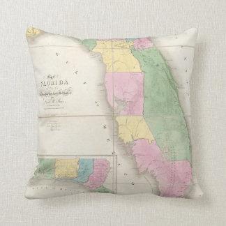 Mapa del vintage de la Florida (1839) Almohadas
