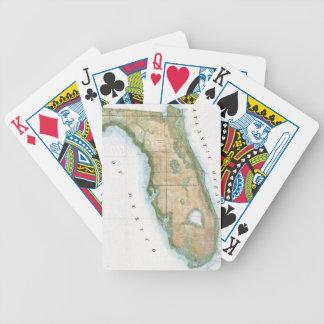 Mapa del vintage de la Florida (1848) Baraja Cartas De Poker