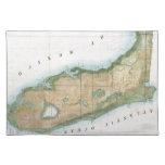 Mapa del vintage de la Florida (1848) Mantel