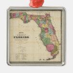 Mapa del vintage de la Florida (1870) Adorno