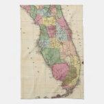 Mapa del vintage de la Florida (1870) Toalla De Mano