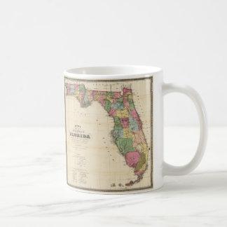 Mapa del vintage de la Florida (1870) Taza Clásica