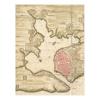 Mapa del vintage de La Habana Cuba 1740 Postales