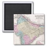 Mapa del vintage de la India (1855) Imán Para Frigorífico