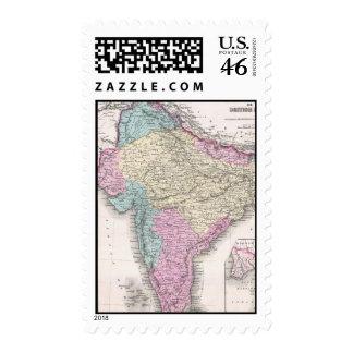 Mapa del vintage de la India 1855