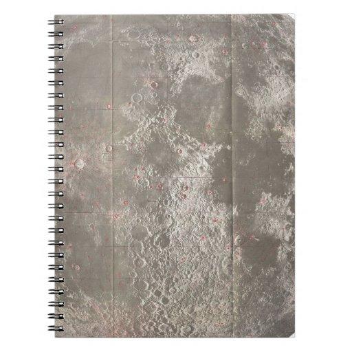 Mapa del vintage de la luna (1961) libro de apuntes con espiral