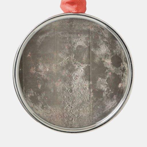 Mapa del vintage de la luna (1961) ornamente de reyes