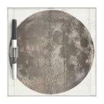 Mapa del vintage de la luna (1961) tableros blancos
