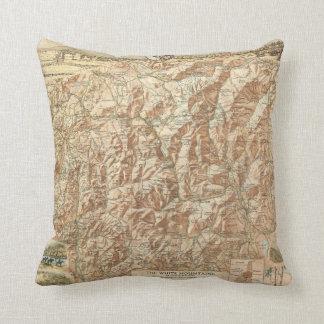 Mapa del vintage de la Mountains blanca (1937) Cojin
