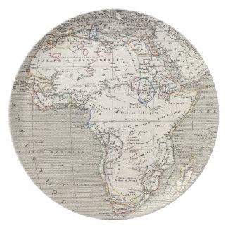 Mapa del vintage de la placa de África Platos De Comidas