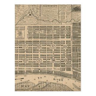 Mapa del vintage de la sabana Georgia (1818) Postales