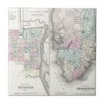 Mapa del vintage de la sabana y de Charleston (185 Teja
