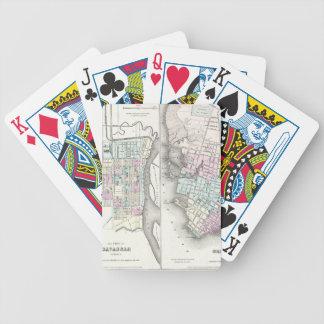 Mapa del vintage de la sabana y de Charleston Baraja Cartas De Poker