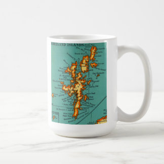 Mapa del vintage de la taza de ESCOCIA de las ISLA