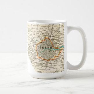 Mapa del vintage de la taza de LONDRES INGLATERRA
