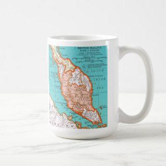 Mapa del vintage de la taza de MALASIA