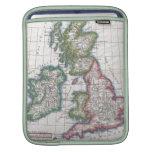 Mapa del vintage de las islas británicas (1780) funda para iPads