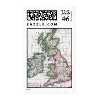 Mapa del vintage de las islas británicas 1780