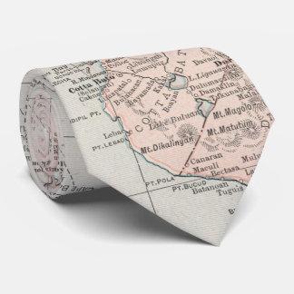 Mapa del vintage de las islas filipinas (1901) corbata personalizada