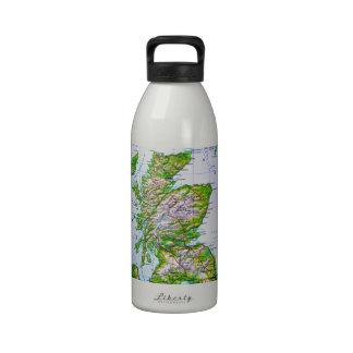 Mapa del vintage de las Islas Orcadas de Escocia Botella De Agua